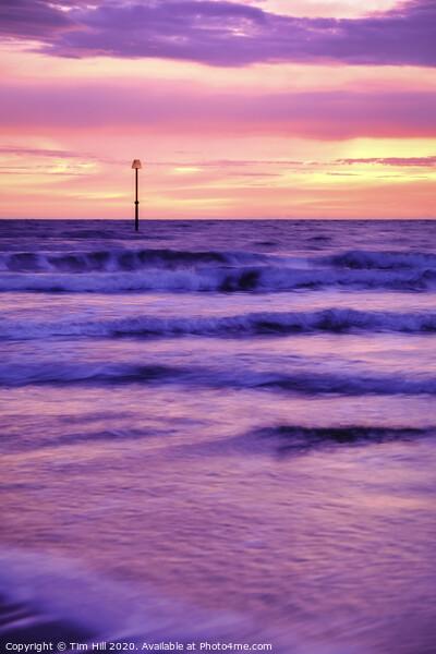 Filey Beach Pink Sunrise Canvas Print by Tim Hill
