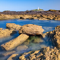 Buy canvas prints of Godrevy Lighthouse, St Ives Bay, Cornwall by Tim Hill