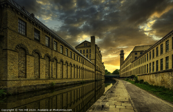 Salts Mill, Leeds Liverpool Canal, Saltaire Acrylic by Tim Hill