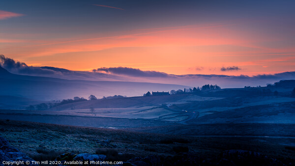 Penyghent Sunrise Yorkshire Dales Framed Mounted Print by Tim Hill