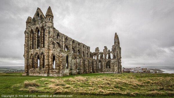 Whitby Abbey Print by Tim Hill