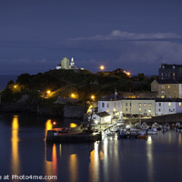 Buy canvas prints of Tenby at Night by Tim Hill