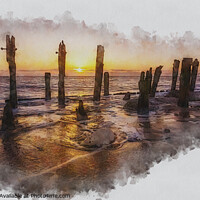 Buy canvas prints of Spurn Point Seascape Art by Tim Hill