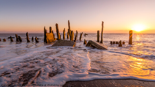 Sunrise at Spurn Point near Hull Canvas Print by Tim Hill