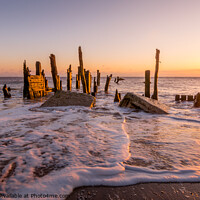 Buy canvas prints of Sunrise at Spurn Point near Hull by Tim Hill