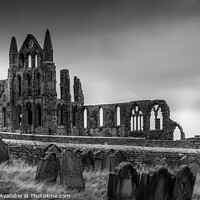 Buy canvas prints of Whitby Abbey and St Hilda's Graveyard by Tim Hill