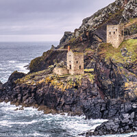 Buy canvas prints of Crown Engine Houses, Botallack, Cornwall by Tim Hill