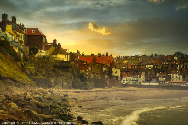 Whitby from Tate Hill Sands Canvas Print by Tim Hill