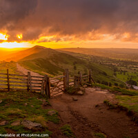 Buy canvas prints of Sunrise over The Great Ridge and Mam Tor Gate by Tim Hill