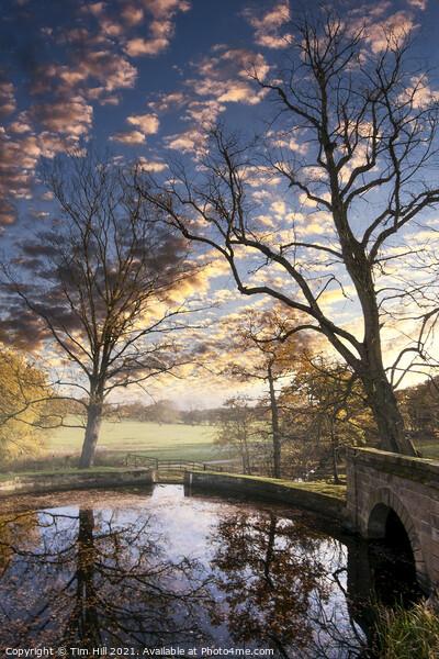 Autumn Sunset near Wakefield Framed Print by Tim Hill