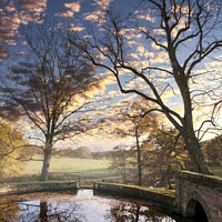 Buy canvas prints of Autumn Sunset near Wakefield by Tim Hill