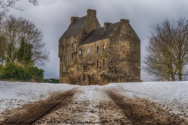 Midhope Castle (aka Lallybroch), West Lothian Canvas print by Douglas Milne