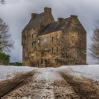 Buy canvas prints of Midhope Castle (aka Lallybroch), West Lothian by Douglas Milne