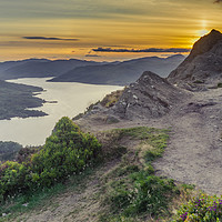 Buy canvas prints of Loch Katrine from the top of Ben A'an by