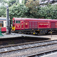 Buy canvas prints of Train at Sheringham Station in North Norfolk by Clive Wells