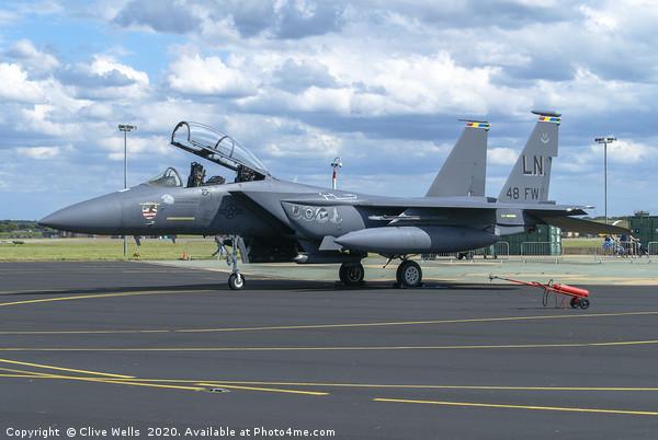 McDonnell Douglas F-15E Strike Eagle. Canvas print by Clive Wells