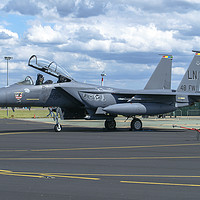 Buy canvas prints of McDonnell Douglas F-15E Strike Eagle. by Clive Wells