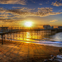 Buy canvas prints of Sunrise at Worthing Pier  by Terry May
