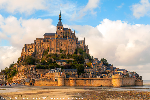 Mont Saint Michel, Normandy, France Canvas print by Lenscraft Images