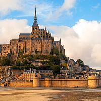 Buy canvas prints of Mont Saint Michel, Normandy, France by Lenscraft Images