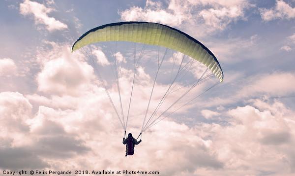 Paragliding Canvas print by Felix Pergande