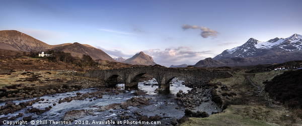 The Black and Red Cuillin mountains from Sligachan Canvas print by Phill Thornton