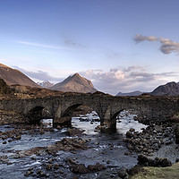 Buy canvas prints of The Black and Red Cuillin mountains from Sligachan by Phill Thornton