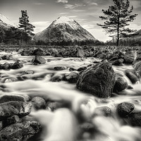 Buy canvas prints of The Alt Fhaolain and Stob na Broige, Glen Etive. by Phill Thornton