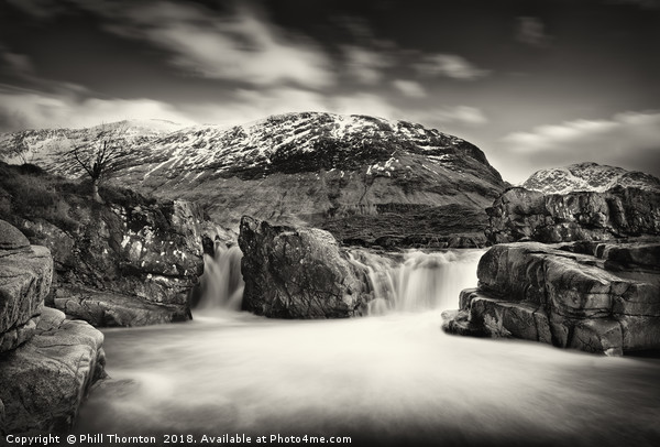 Waterfall on the River Etive, No. 2. Canvas print by Phill Thornton
