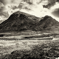 Buy canvas prints of Storm clouds over Stob Dearg by Phill Thornton