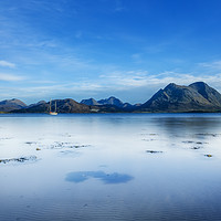 Buy canvas prints of A very still Sound of Raasay and the mountains of  by Phill Thornton