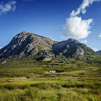 Buy canvas prints of Blue skies over over Stob Dearg by Phill Thornton