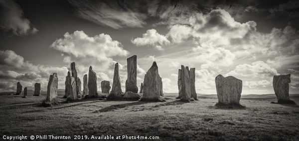 The Callanish Standing Stones Isle of Lewis Framed Mounted Print by Phill Thornton