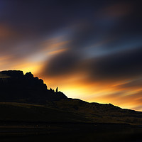 Buy canvas prints of Sunsetting over The Old Man of Storr No.3 by Phill Thornton