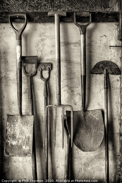 Traditional tools series No. 4 Canvas print by Phill Thornton