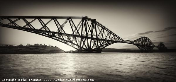 Forth Rail Bridge, Scotland. Canvas print by Phill Thornton