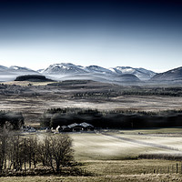Buy canvas prints of The misty Cairngorm Mountains from the Snow Road by Phill Thornton