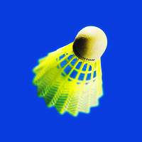 Buy canvas prints of Abstract view of a badminton shuttlecock on blue by Phill Thornton