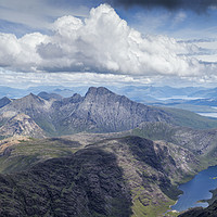Buy canvas prints of Panoramic view from the summit of the Black Cuilli by Phill Thornton