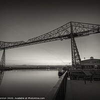 Buy canvas prints of Tees Transporter bridge. No.2  B&W by Phill Thornton