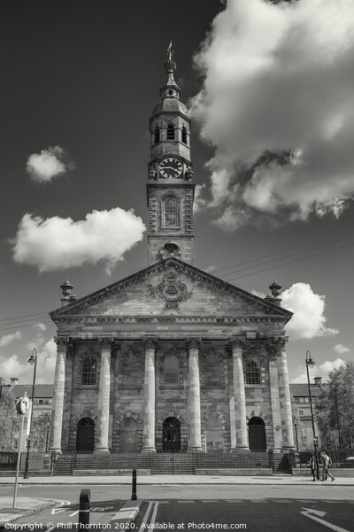 St. Andrew's in the Square, Glasgow church. Print by Phill Thornton