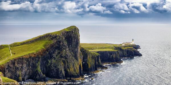 Neist Point panorama, Isle of Skye  Canvas Print by Phill Thornton