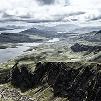Buy canvas prints of Dramatic skies from the top of the Storr, Isle of Skye. by Phill Thornton