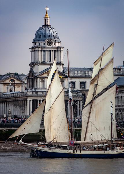 Tall Ship at Greenwich Royal Hospital Acrylic by Simon Belcher