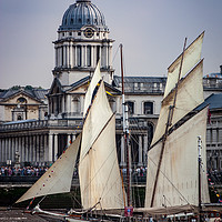 Buy canvas prints of Tall Ship at Greenwich Royal Hospital by Simon Belcher