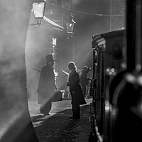 Buy canvas prints of Steam Train Passenger by David Thurlow