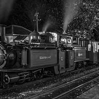 Buy canvas prints of Night Train to Porthmadog by David Thurlow