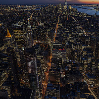 Buy canvas prints of New York City Sunset by David Thurlow