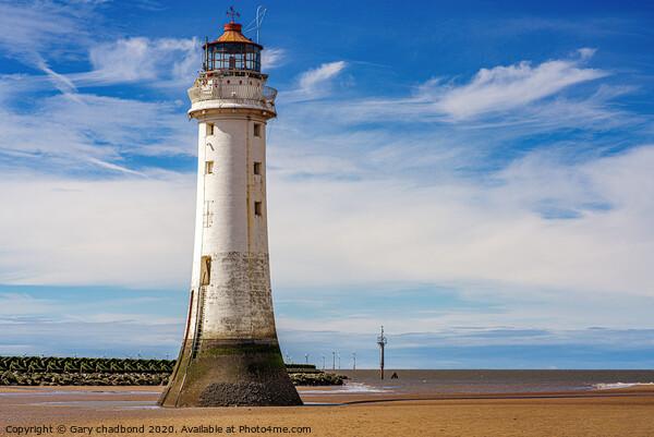 New Brighton Lighthouse Print by Gary chadbond