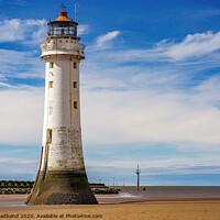 Buy canvas prints of New Brighton Lighthouse by Gary chadbond